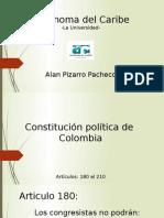Constitucion Politica de Colombia Articulos 180 Al 210