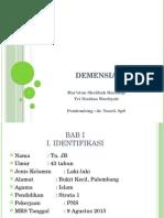 Ppt Demensia