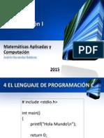 Programación I - Tema 4. El lenguaje de programación C.pdf