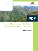 Bolivia Informe Monitoreo Coca 2014