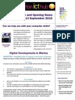 Newsletter 31 August 2015