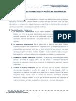 Reglamentaciones Comerciales y Políticas Industriales