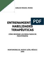 Entrenamiento en Habilidades Terapeuticas-Dr. Carlos Miguel Mussi