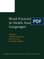 Word Formation in South American Languages