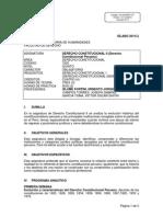Derecho Constitucional II - Sílabo