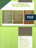 Litigio, Formas de Solucionar Conflictos, Sistemas Procesales, Principios Procesales