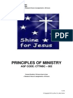 CTTNBC - 002 -Course Outline - Principles of Ministry