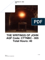 CTTNBC - 005 -Course Outline - The Writings of John