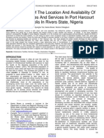 Assessment of the Location and Availability of Public Facilities and Services in Port Harcourt Metropolis in Rivers State Nigeria