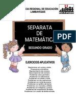 Separata de Matematica Segundo Grado LAMBAYEQUE