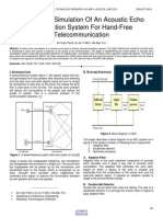 Design and Simulation of an Acoustic Echo Cancellation System for Hand Free Telecommunication
