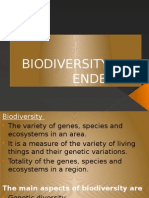 Biodiversity and Endemism