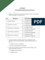 Diagnostico e Identifcación de Fallas