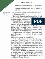 1870-029 Creación de la provincia de Hualgayoc