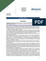Noticias - News 1-Mar-10 RWI-DESCO