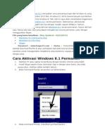 Cara Aktivasi Windows 8.1