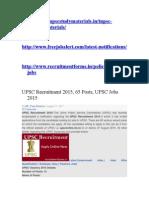 UPSC Recruitment 2015.doc