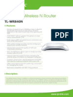 TL-WR840N V1 Datasheet