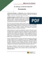 LGC2013_Presentación y Programa