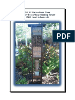DIY UF Native Buzz Plans- Solitary Bee & Wasp Nesting Tower (Skill Level- Advanced) - Copy