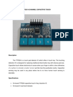Ttp224 4 Channel Capacitive Touch