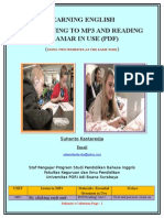 Learning English by Listening to Mp3 and Reading Gramar in Use