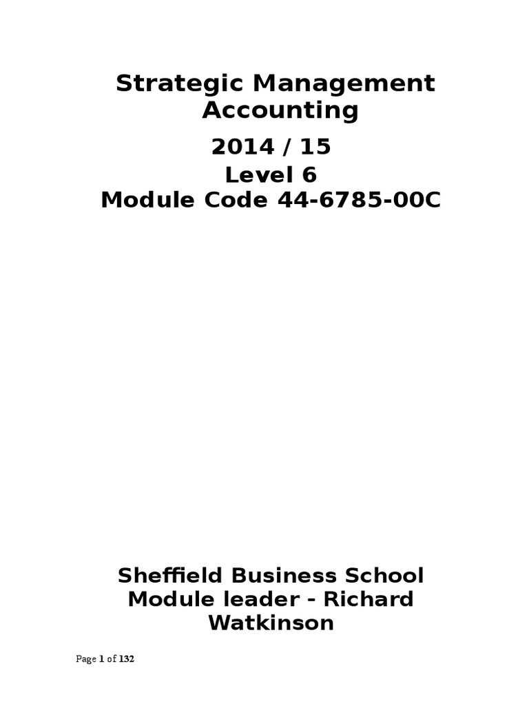 Strategic management accounting management accounting turnitin fandeluxe Images