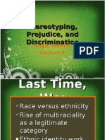 Lecture 8 Prejudice and Discrimination
