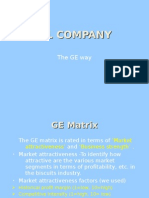 S&L Company Ge Matrix