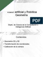 Visión artificial y Robótica. Geometría