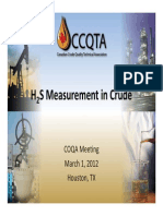 H2S Measurement in Crude