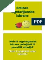 Smisao Vegetarijanske Ishrane Hrvatski