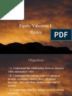 Valuation - Basics