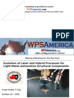 Laser and Hybrid Processes