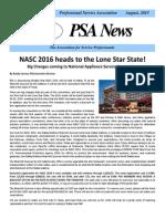 PSA Newsletter August 2015