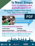 Leeds Next Steps - Post-16 Event 3 Sept 2015