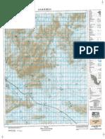 Carta topografica La Flor de Jimulco