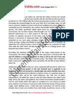 Union Budget 2015 PDF