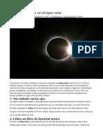 Cómo Fotografiar Un Eclipse Solar