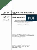 Usp 37-Nf 32 en Español - Volumen 1