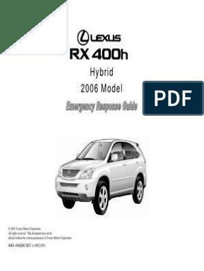 8 Lexus RX 400h ERG | Airbag | Hybrid Electric Vehicle