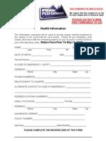 2010 Health Form 1