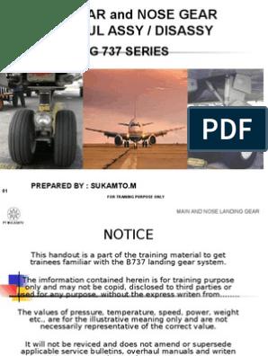 Main n Nose Gear b 737 | Landing Gear | Steering