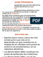 Nivelacion Topografica - Bench Mark