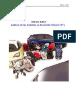 Análisis de Los Sistemas de Retención Infantil 2015
