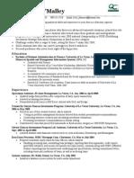 New-grad Finance Resume