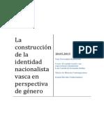 La Construcción de La Identidad Nacionalista Vasca en Perspectiva de Género