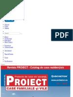 Revista PROIECT - Catalog de Planuri Case