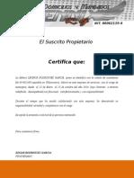 certificacion FENX MENSAJERIA