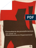 Edgar h. Schein Consultoria de Procedimentos Seu Papel No Desenvolvimento Organizacional
